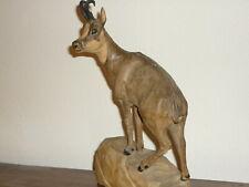 Gemse Gams Holzfigur Tierskulptur Gämse Steinbock Chamois