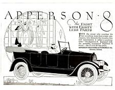 AUTOMOBILE AD 1919 U.S. THE APPERSON 8 AUTO KOKOMO INDIANA