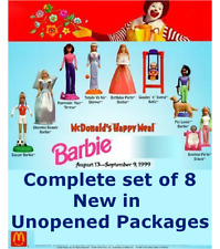 McDonald's 1999 Barbie COMPLETE 1-8 Soccer Teresa Skipper Party Kelly Pet Stacie
