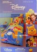 ~ Winnie the Pooh - DOONA QUILT / DUVET COVER SET Patch