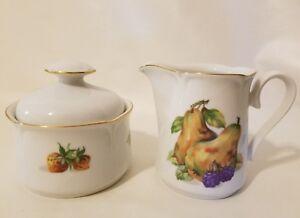 Jlmenau Graf Von Henneberg Allemagne Porcelaine Fruit Sucrier Couvercle &