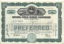 NATIONAL PUBLIC SERVICE CORPORATION......1926 PREFERRED STOCK CERTIFICATE