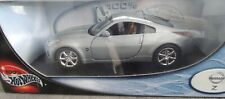 100% Hot Wheels Silver Nissan Z 1:18 Scale Metal Collection