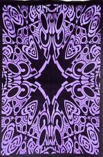 Spider Net Design Poster Small Cotton Tapestry Wall Hanging Indian Purple Color