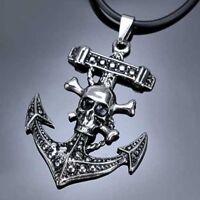 Edelstahl- Anhänger Pirat, Anker, Totenkopf, Skull, Tattoo