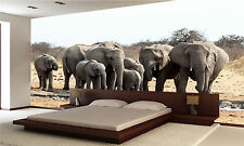 Photo Wallpaper African Elephants GIANT WALL DECOR PAPER POSTER FOR BEDROOM
