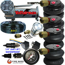 480C Air Compressor Ride Kit 200psi rate as pictured 2 25/26 Airspring bags gaug