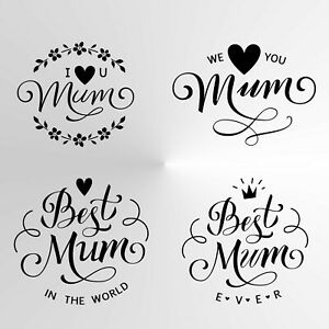 MOTHER'S DAY Reusable Stencil A3 A4 A5 Love you, Best, Forever Mum, Mother MUM