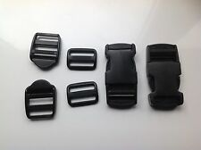 25mm Mixed Pack 6 Plastic Belt Rucksack Buckle Fasteners