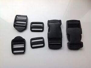 25mm Mixed Pack 6 Plastic Belt Rucksack Buckle Fasteners