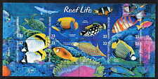 MARSHALL ISLANDS 2002 TROPICAL FISH -TURTLES - CORAL MINT SET OF 8 IN A SHEET!