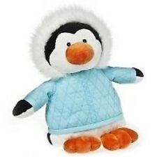Mary Meyer Penguin Biggie Blizz Blue Turquoise Black White Bird Stuffed NEW