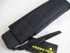 Happy Rain leichter flacher Regenschirm schwarz 185 G Taschenschirm