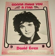 DAVID ESSEX - GONNA MAKE YOU A STAR - SHEET MUSIC