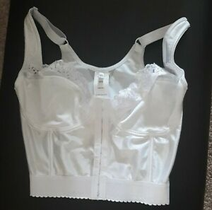 38DD White Silky Lace Bustier Corset Comfort Choice brand