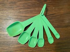 Tupperware Measuring SpoonsLime Green Set of 6 with Ring