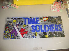 "TIME SOLDIERS   23- 9"" arcade game sign marquee  cF99"