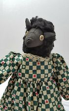 Black Sheep Handmade Doll Folk art