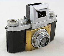 Praktiflex vintage 35mm SLR camera, lens Ludwig Anastigmat Victar 1:2,9 F=5cm