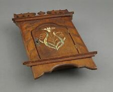 Antiker JUGENDSTIL Schlüsselkasten - Wandschränkchen aus Holz fein handbemalt