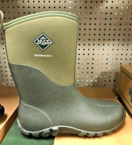 Muck Boots Mens Edgewater II Mid Waterproof Rubber Boots Green EW2M333T SZ 14D