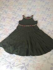 Girls Sz 10 Gymboree Hunter Green  Tiered Summer Dress Trim 2013 100% Cotton