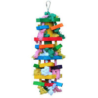Bird Chewing Toy Large Medium Parrot Cage Bite Toys African Grey Macaws Coc Q0E2