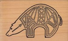 """aztec ant eater taylored Wood Mounted Rubber Stamp 2 x 3"""" Free Shipping"""
