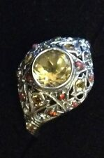 Unbranded Natural Citrine Sterling Silver Fine Rings