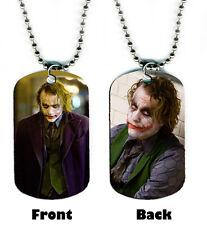 DOG TAG NECKLACE - Heath Ledger 1 Joker Batman jewelry 2-sided