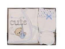 Baby 5-tlg Neugeborenen Set Jungen Kleidung Newborn Lätzchen Teddy Mond Cute NEU
