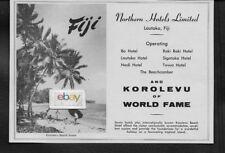 NORTHERN HOTELS LTD OF FIJI KOROLEVU BEACH LAUTOKA FIJI 7 HOTELS BA-NADI AD
