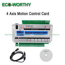 New 4 Axis CNC Mach3 Motion Controller Card Breakout Interface Board for Milling