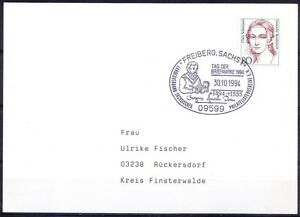 Georgius Agricola Father of Mineralogy Used Germany Cover pictorial Cancellation
