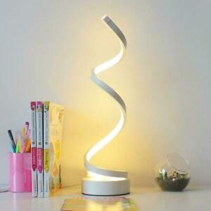 Modern LED Bedside Table Lamps Creative Design Dimmable Curved 10 E2Y0