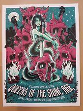 Queens of the Stone Age Auckland 2018 Silkscreen Concert Poster Art Blair Sayer