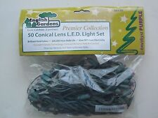 Premier Collection 50 Conical Lens L.E.D. Christmas Light Set Amethyst Purple