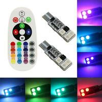2 Led T10 Lampade RGB 6 SMD Bianco interno telecomando luce Auto 5W Multicolore