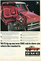 1968 Print Ad of GM General Motors GMC 1500 Cutaway Pickup Truck