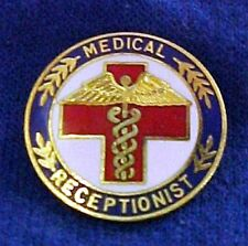 Medical Receptionist Emblem Lapel Pin 5045 Retired Professional Gold Plated New
