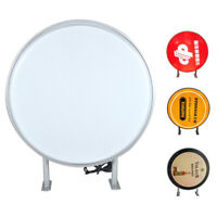 "24"" LED Double Sided Outdoor Round Light Box Advertising Sign Waterproof"