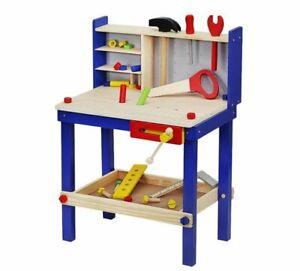 Kinder Werkbank Holz Werkbank Set Holzwerkstatt Alles aus Holz Werkbank Kinder