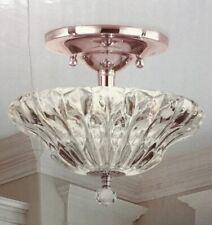 Dale Tiffany Meridith 3-Light Polished Chrome Crystal Semi-Flush Mount Light New