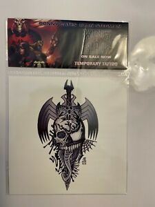 King In Black Temporary Tattoos Cool Promotional Item Marvel Comics