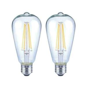 75-Watt Equivalent ST19 Antique Edison Dimmable Clear Glass LED (4-Pack)