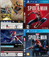 - Spiderman PS4 Replacement Box Art Case Insert Cover Cover Only
