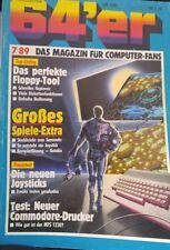 64er (64´er) 07/89 Juli 1989 C64 Commodore 64 (Spiele Extra, Neue Joysticks)