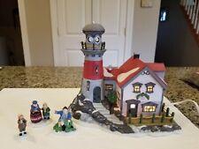 Dept 56- New England Village- Pigeonhead Lighthouse #56537 & Old Man & The Sea