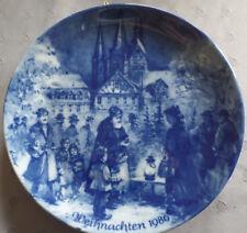 """Berlin Design Weihnachtsteller 1986 """"Weihnachtsabend in Gelnhausen"""""""