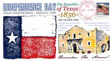 Coverscape computer designed 180th anniversary of Texas Independence event cover